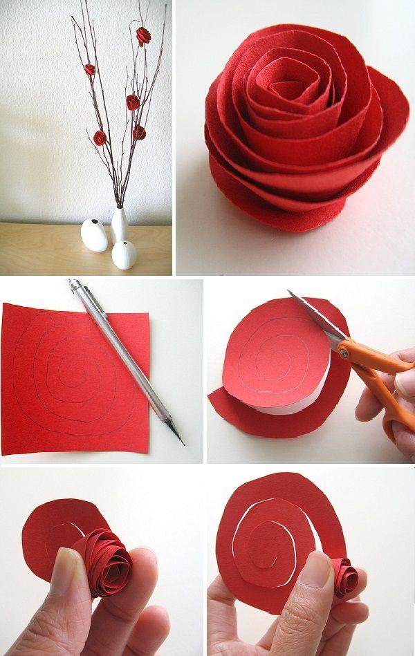Diy Paper Flower Centerpiece Rose Crafts Paper Flower