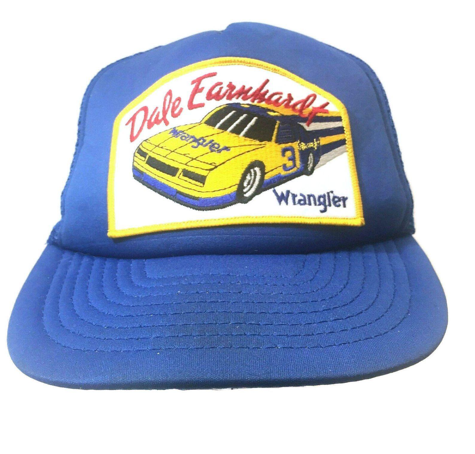 4772643a4 Vintage 80s Dale Earnhardt 3 Wrangler Patch Snapback Trucker Hat Cap ...