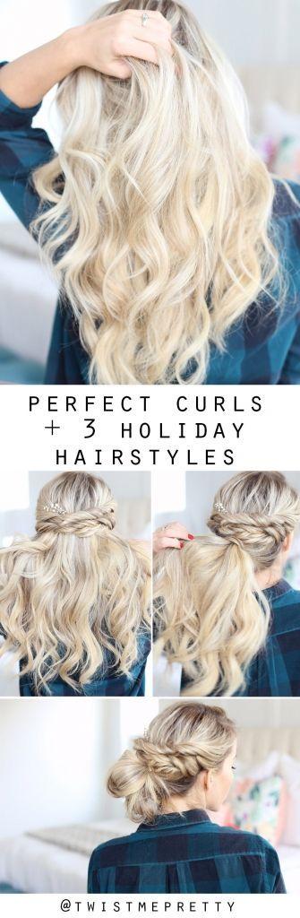Soft Curls + 3 Holiday Styles - Twist Me Pretty