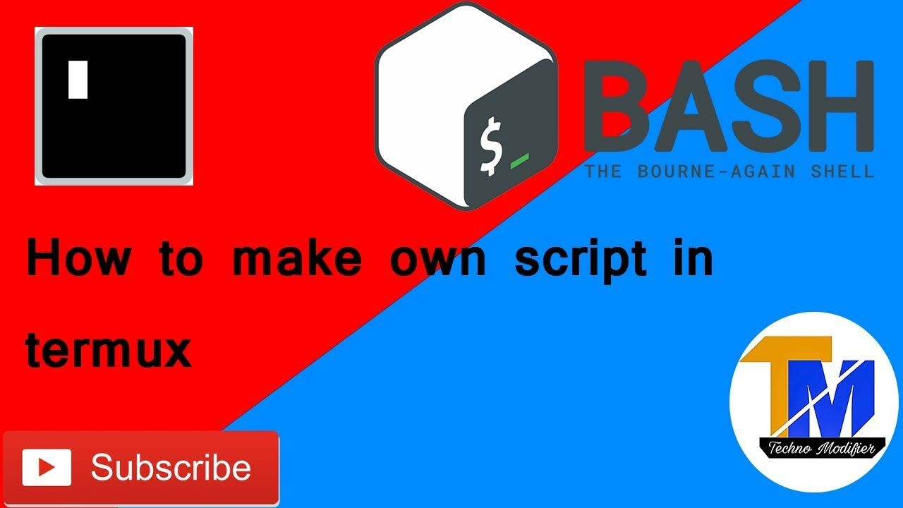 How to make your own script for termux using nano editor