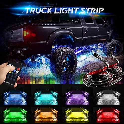 Mihaz Led Truck Bed Glow Lights Rgb Colors Truck Bed Light Strip Car Tail Lighting Bar Sound Activated Function 48 Inch 120 Cm Wireless Remote Control Running Truck Bed Lights Truck Bed Trucks