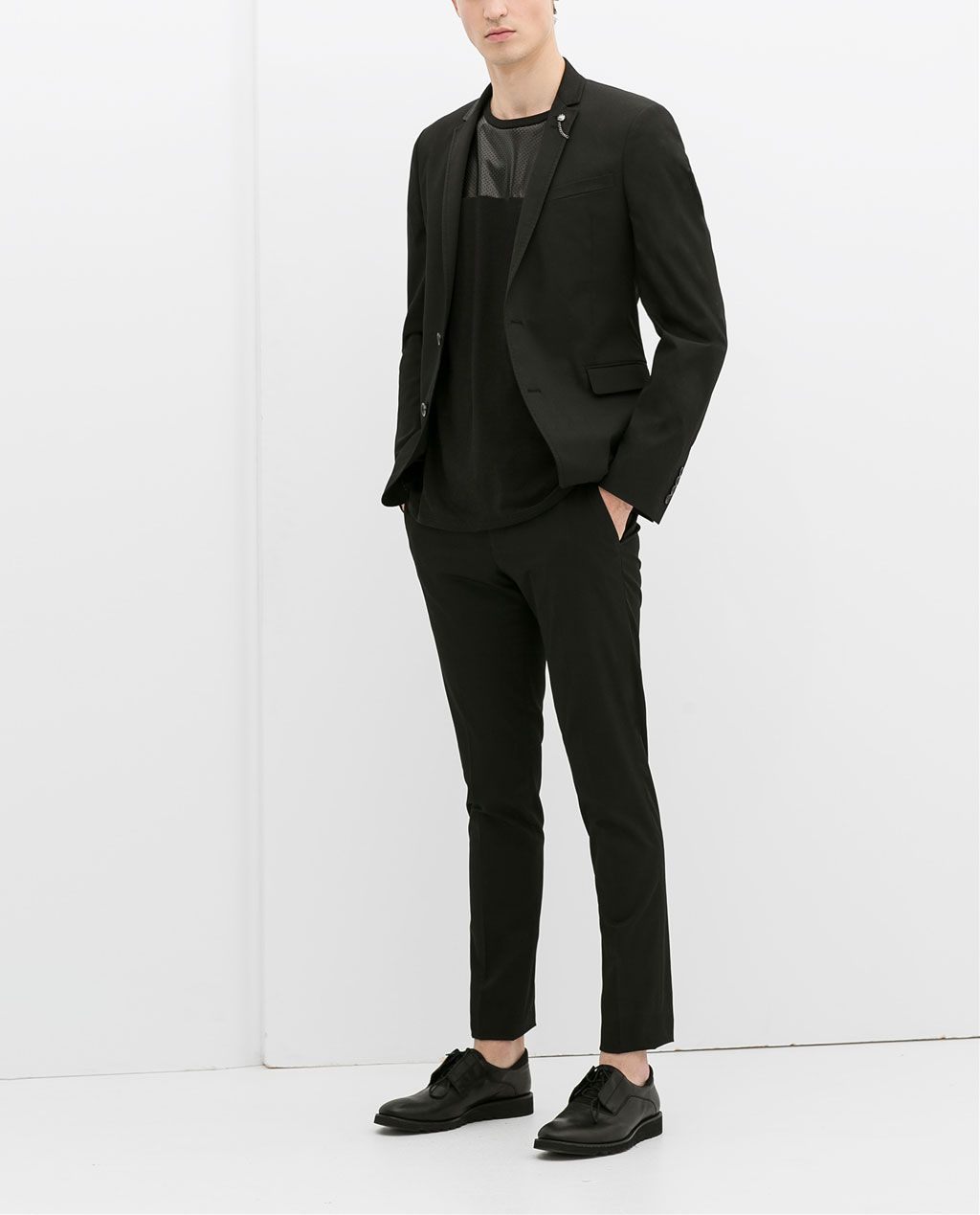 47821e89b9b14 ZARA - MAN - BLACK SUIT