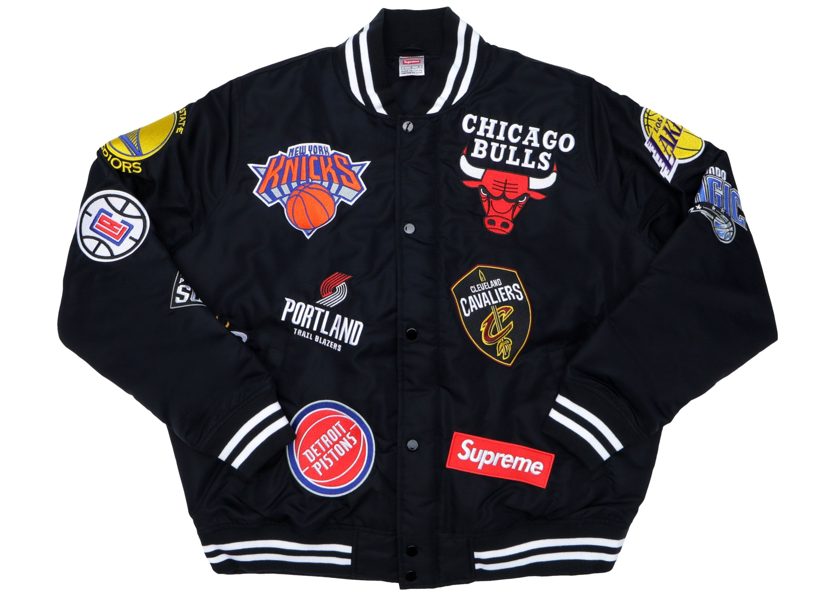 Check out the Supreme Nike/NBA Teams Warm-Up Jacket Black ...