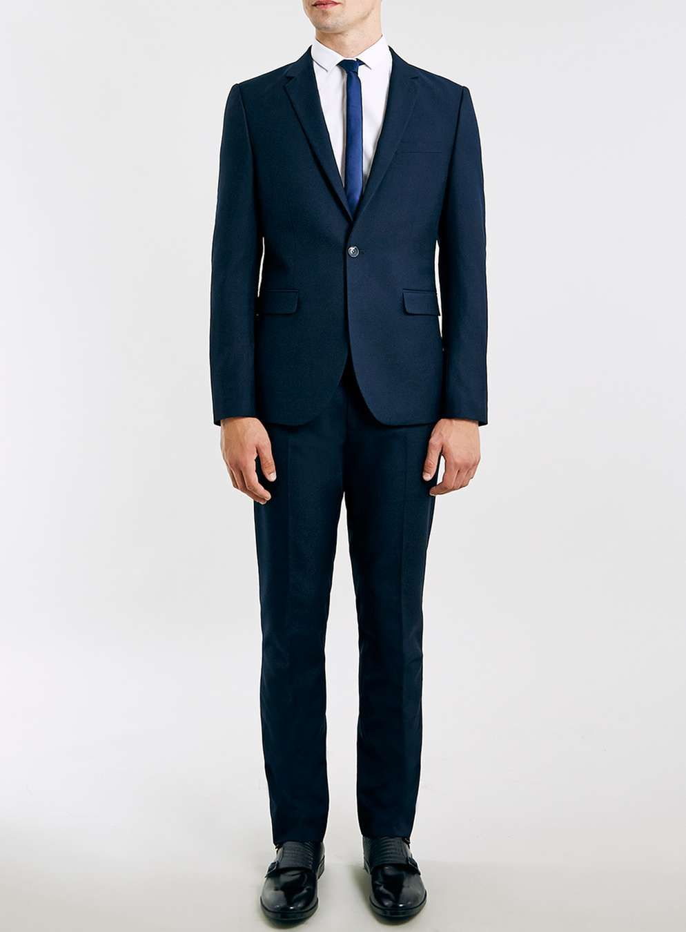 Navy Twill Skinny Fit Suit   prom   Pinterest   Skinny fit suits and ...