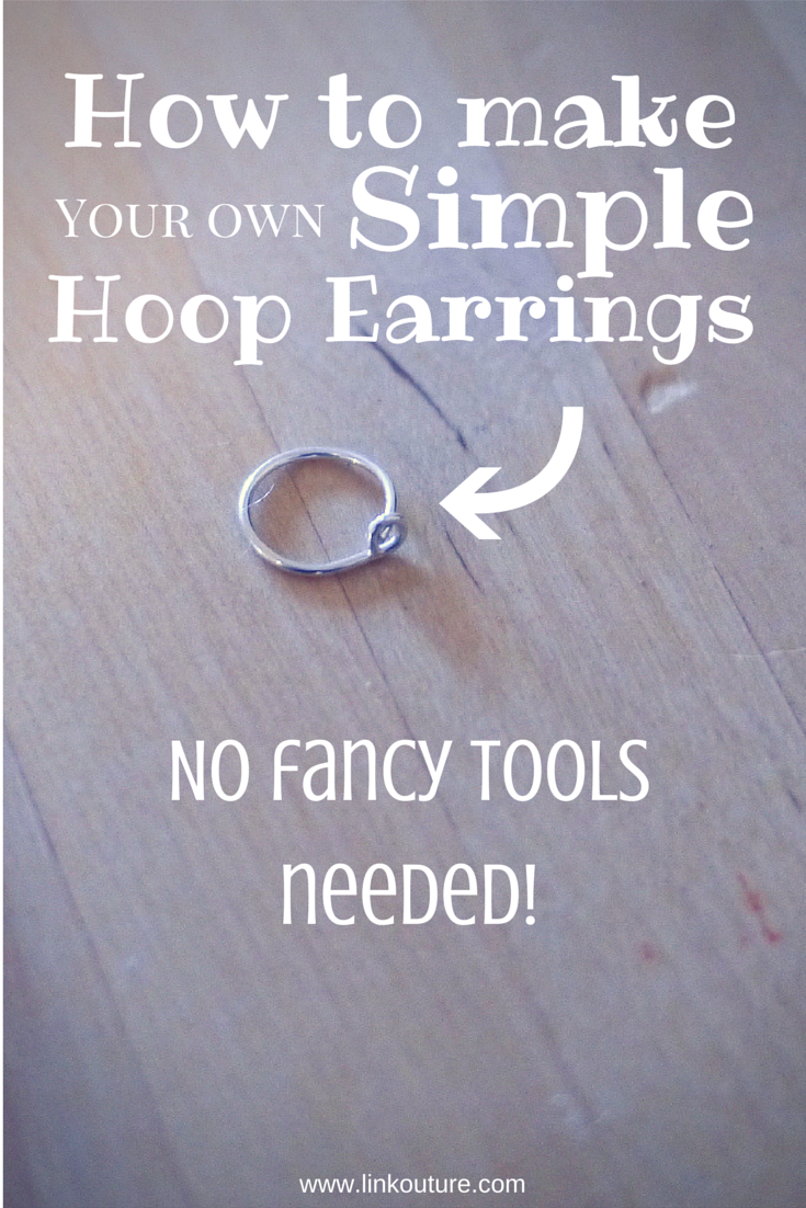 DIY} How to make your own small hoop earrings | Tutorials, Craft and ...