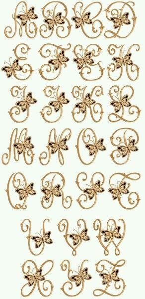 ABC Designs Cutwork Butterflies Machine Embroidery Font For Hoop