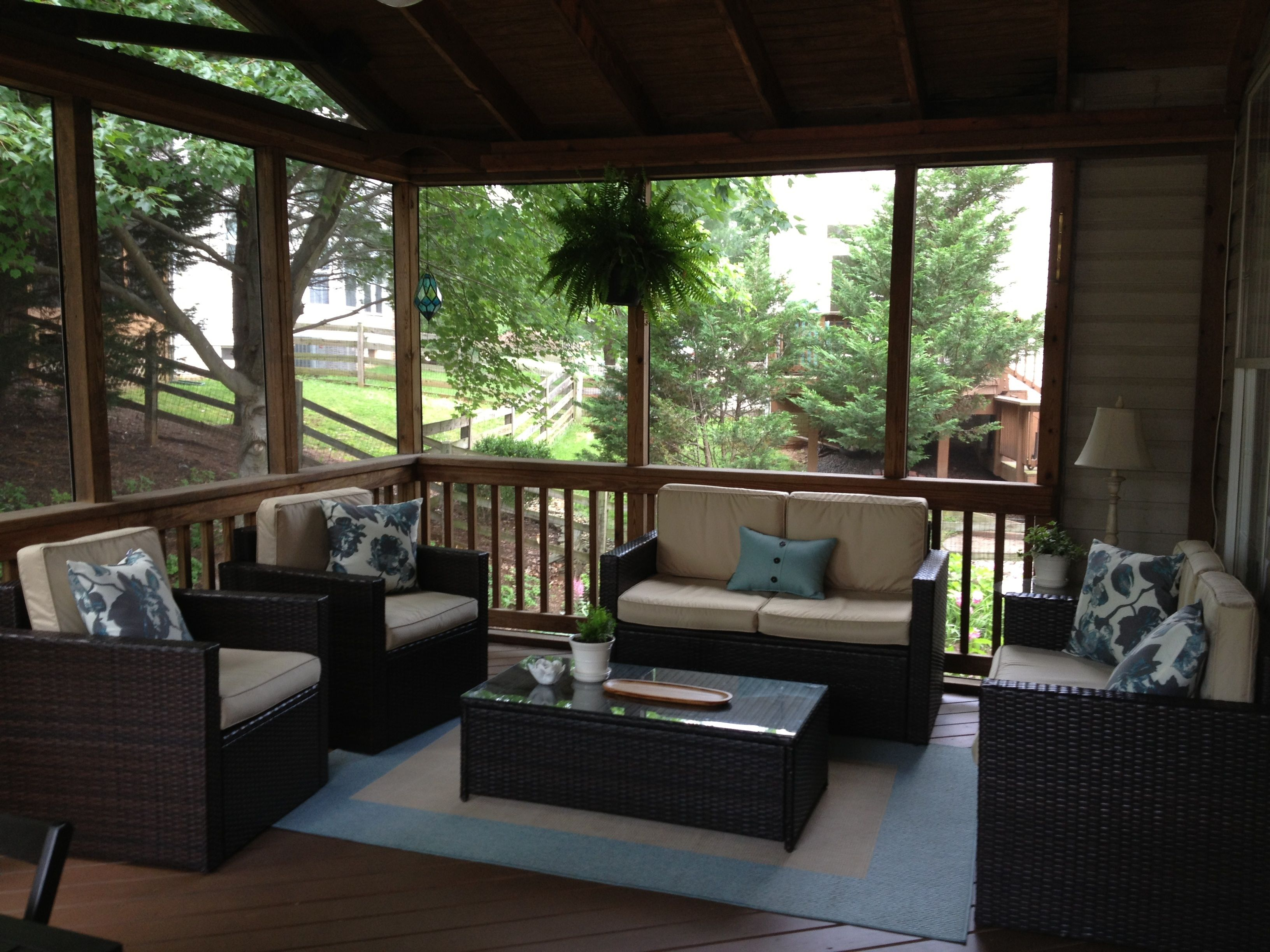 Screened Porch Porch Furniture House With Porch Screened In