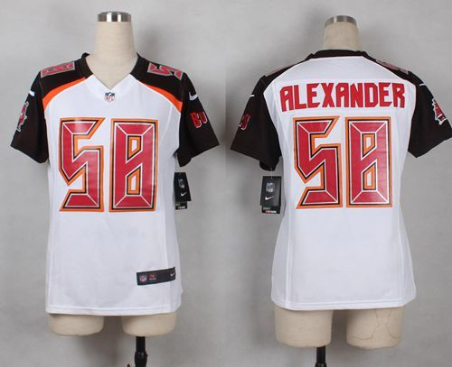 Nike Buccaneers  58 Kwon Alexander White Women s Stitched NFL New Elite  Jersey And NFL Jerseys 93a0d31e11