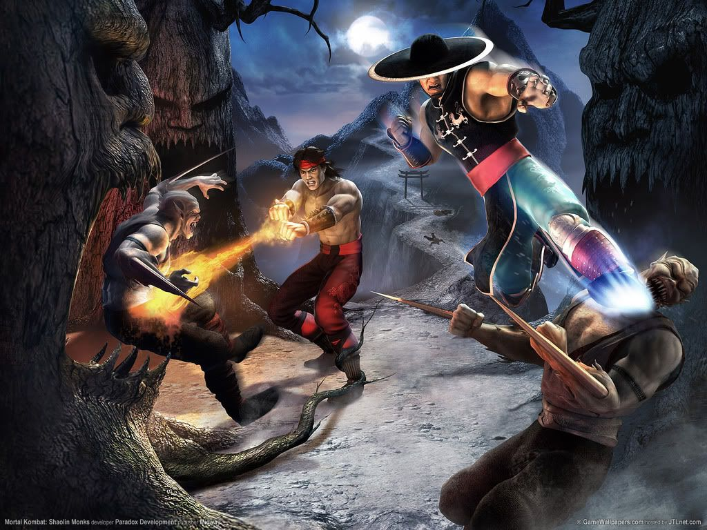 Kung Lao Liu Kang Mortal Kombat Street Fighter Fanart