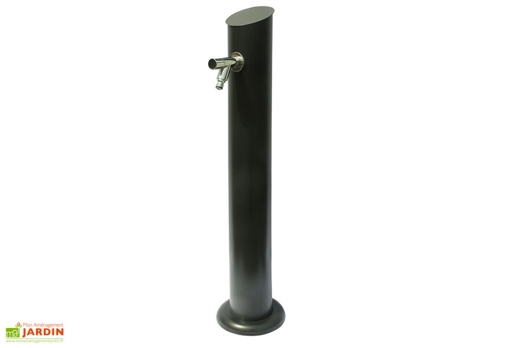 fontaine de jardin colonne en zinc malo