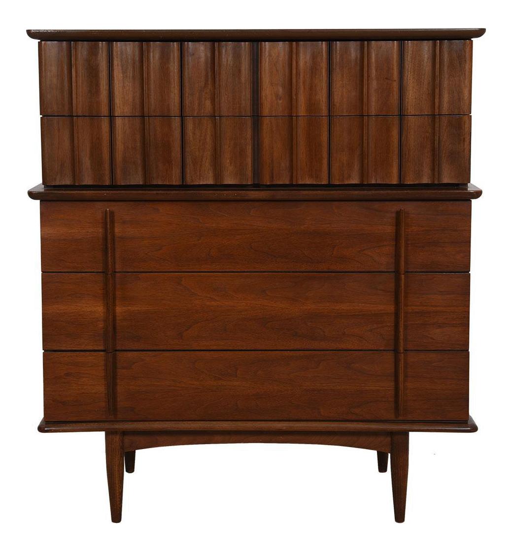 Best Mid Century Modern Tall Walnut Dresser Mid Century 400 x 300