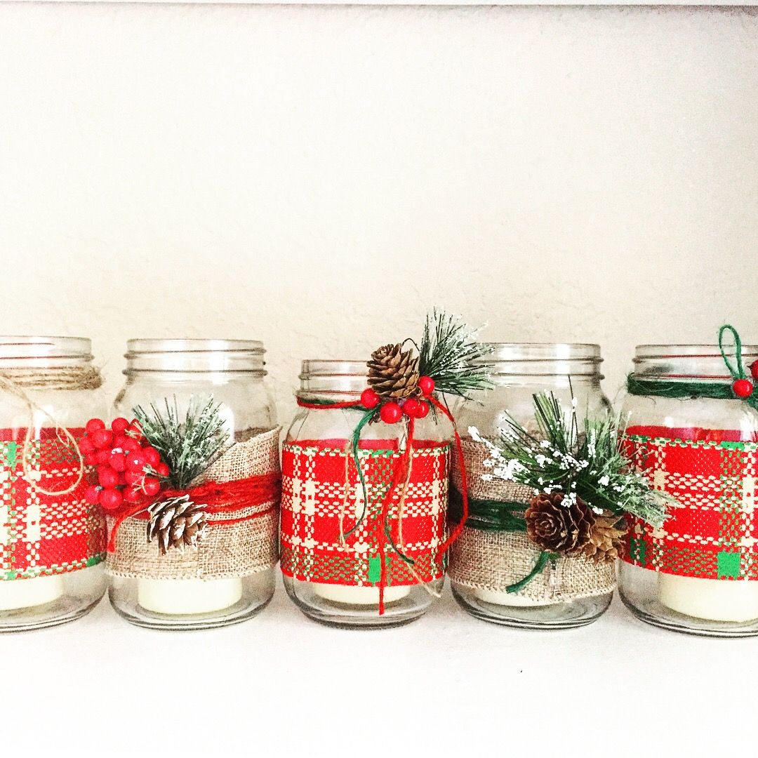 Beautiful Rustic Christmas Candle Holders Christmas Mason Jar Candle Holders Christmas Mason Jars Easy Christmas Diy Christmas Candle Holders