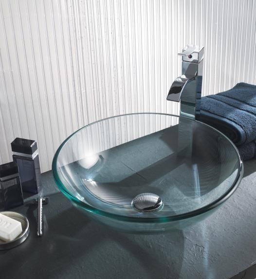 vasque-salle-de-bains-verre-trempe | HOME | Vasque en verre, Vasque ...