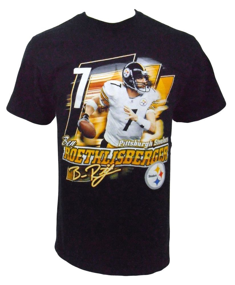Pittsburgh Steelers Ben Reothlisberger TShirt Size M Medium NFL Foorball Black #NFL #PittsburghSteelers