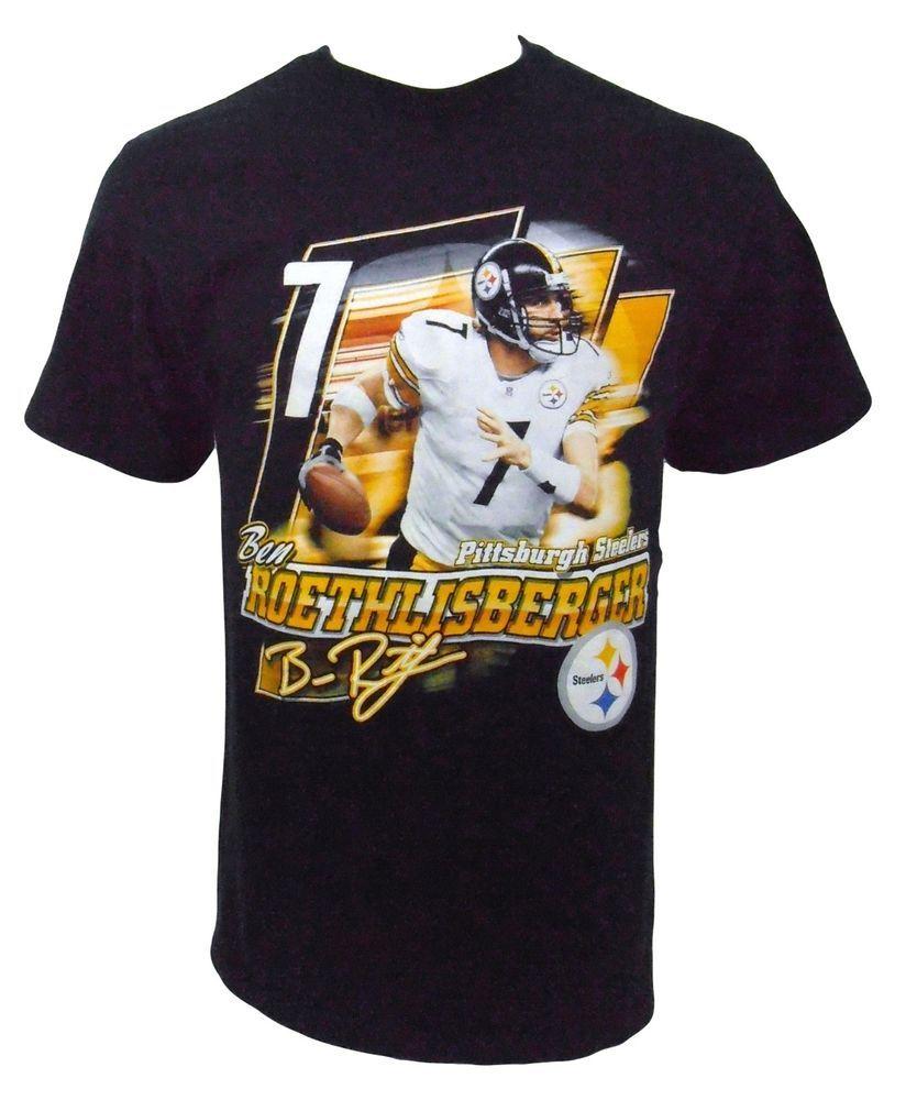 Pittsburgh Steelers Ben Reothlisberger TShirt Size M Medium NFL Foorball Black #NFL #PittsburghSteelers