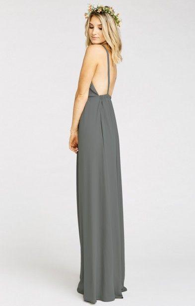 Amanda Maxi Dress Soft Charcoal Crisp Wedding Inspo