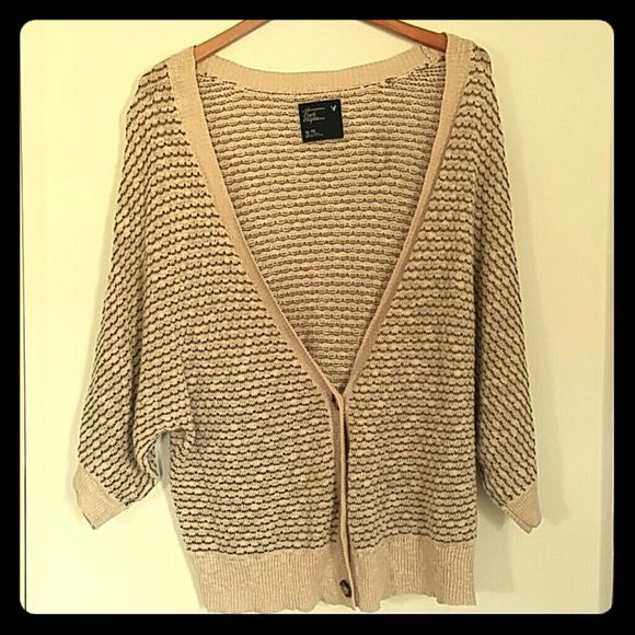 American eagle shrug sweater XL American eagle gray and tan knit ...