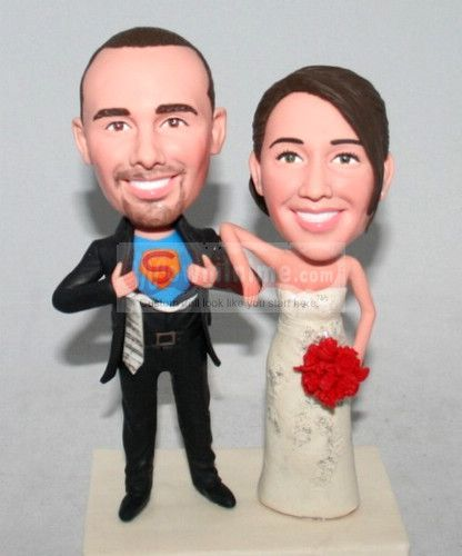 $149 Superman Custom cake toppers, cool!