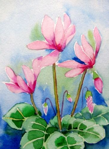 """Cyclamen"", painting by artist Meltem Kilic"