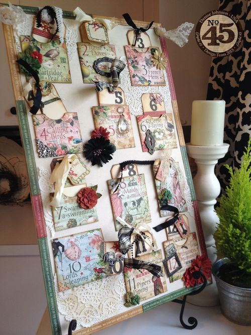 Learn how to create this pocket advent calendar with a great