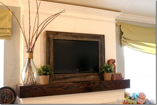 DIY TV Frame: Disguise that Flat Screen | Tv frames, Diy tv and TVs