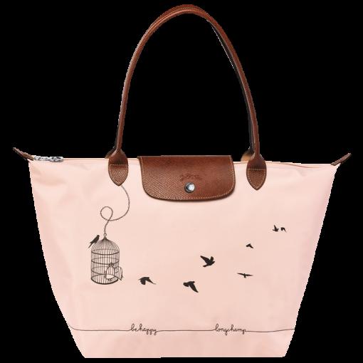 e2227571511 Tote bag - Le Pliage Cage aux Oiseaux - Handbags - Longchamp - Pale pink -  Longchamp United-States