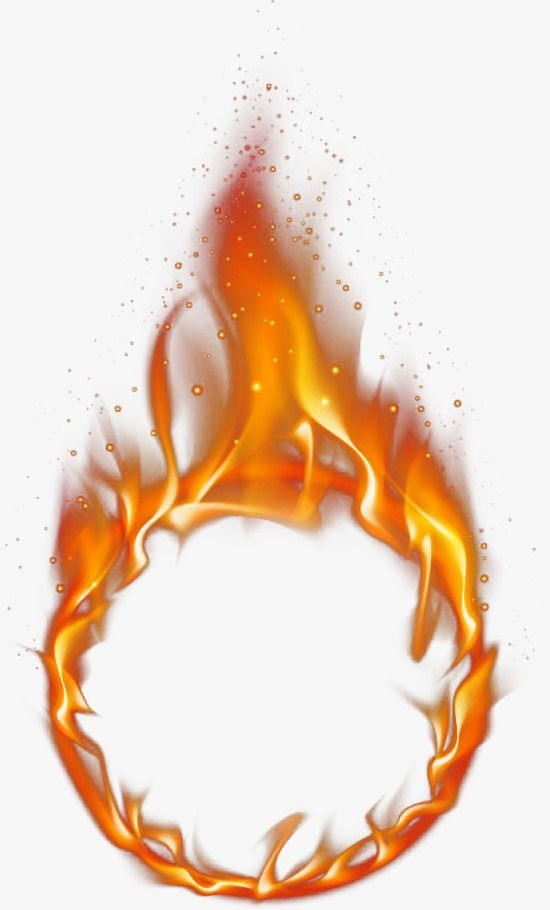 Flame circle. Of fire psd material