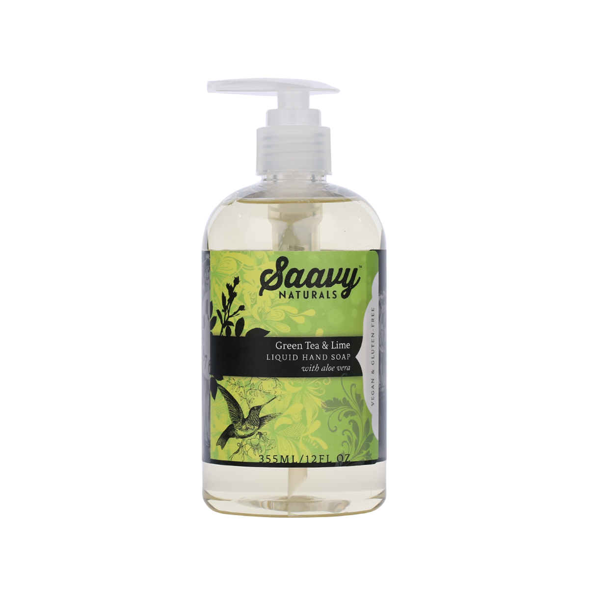 Natural And Organic Liquid Hand Soap - Green Tea & Lime
