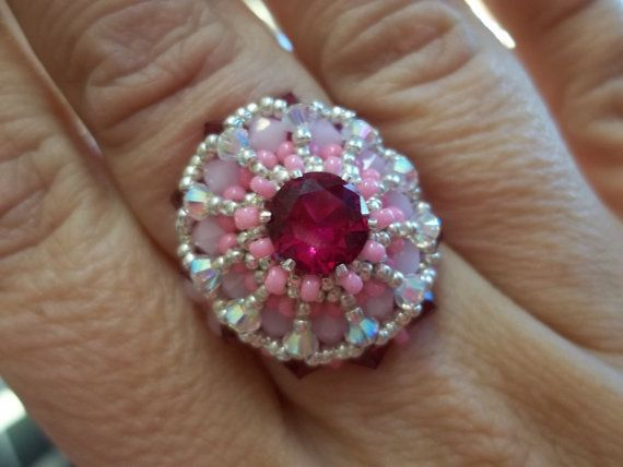Mystic Ring PDF Pattern by offthebeadedpath on Etsy, $8.00