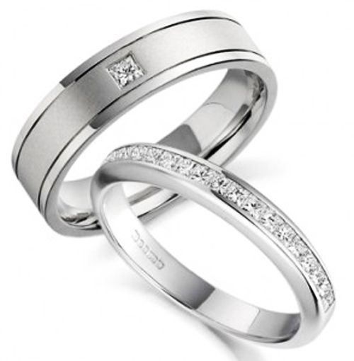 trend rings white gold wedding bands for couples with nicely designed white gold wedding rings with - White Gold Wedding Rings