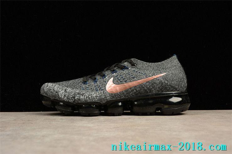 b96bc9d580af1 Nike Air VaporMax Flyknit 849558-010 Mens Sneakers Dark Grey Golden ...