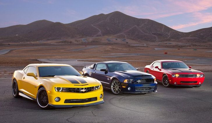 Chevy Camaro Ford Mustang Dodge Challenger