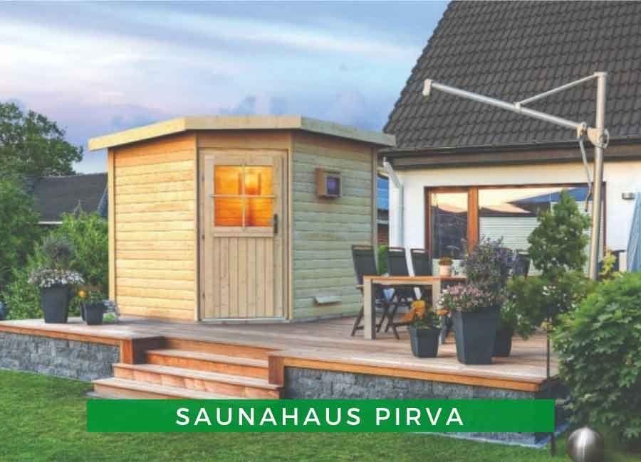 Saunahaus Pirva Saunahaus, Pultdach und Haus