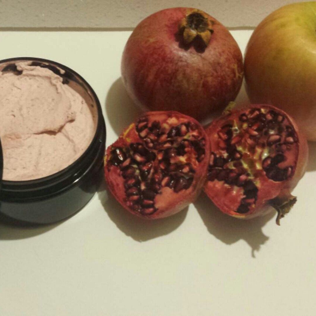 Pomegranate Apple Body Butter is the Best moisturizer for dry winter skin, made with pure pomegranate seed oil and certified organic ingredients.