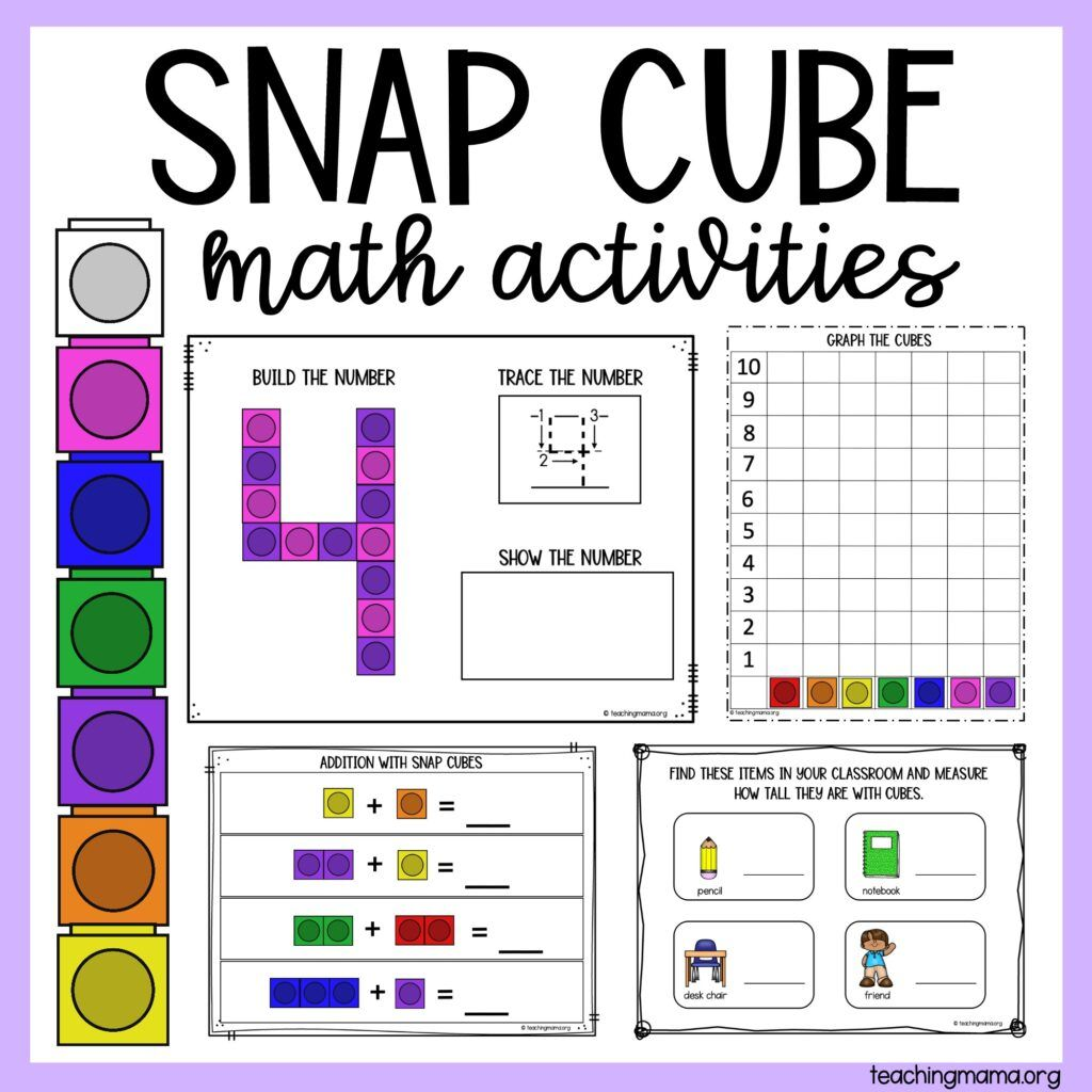 Snap Cube Number Sheets In