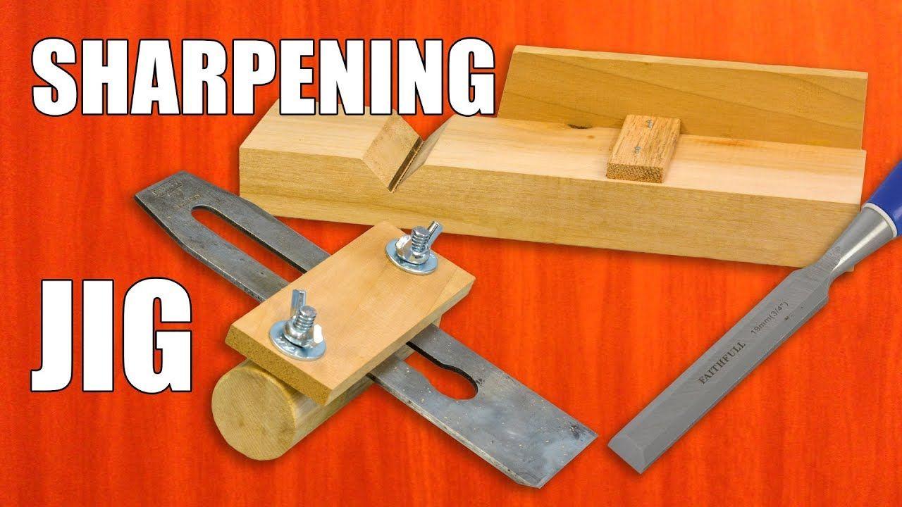DIY Sharpening Jig for Chisels & Plane Blades Wood