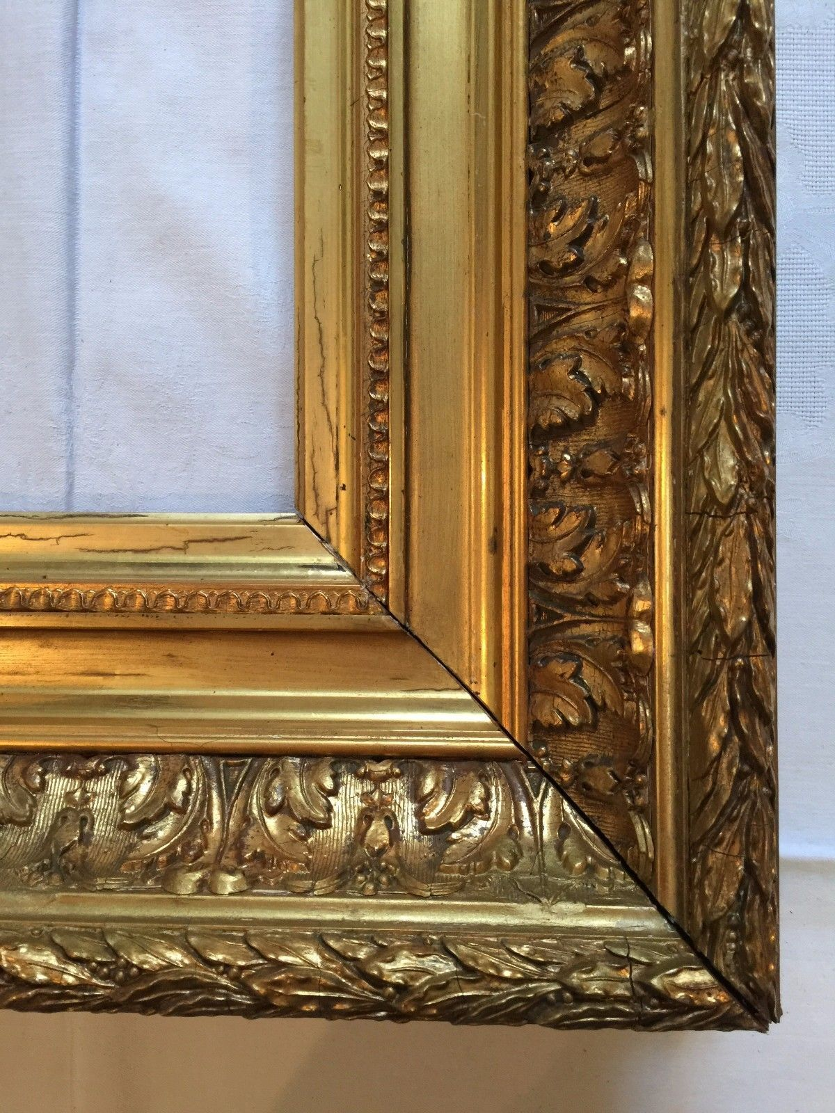 Bilderrahmen Prunkrahmen echt vergoldet Holz Stuck Frankreich um ...
