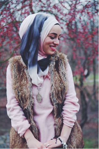 hijabi fashion. fur.