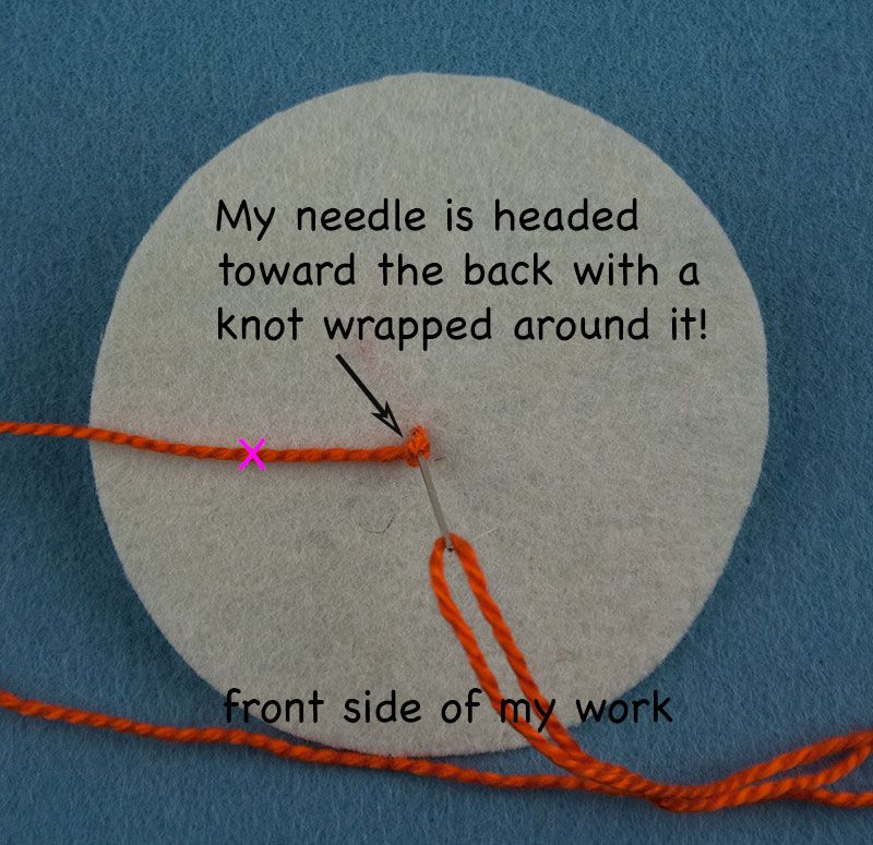 How to make a french knot with images french knot