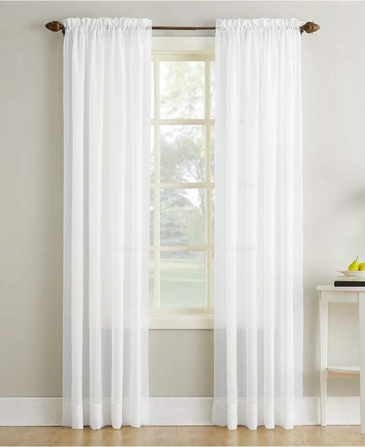 No 918 Crushed Sheer Voile 51 X 84 Curtain Panel Reviews