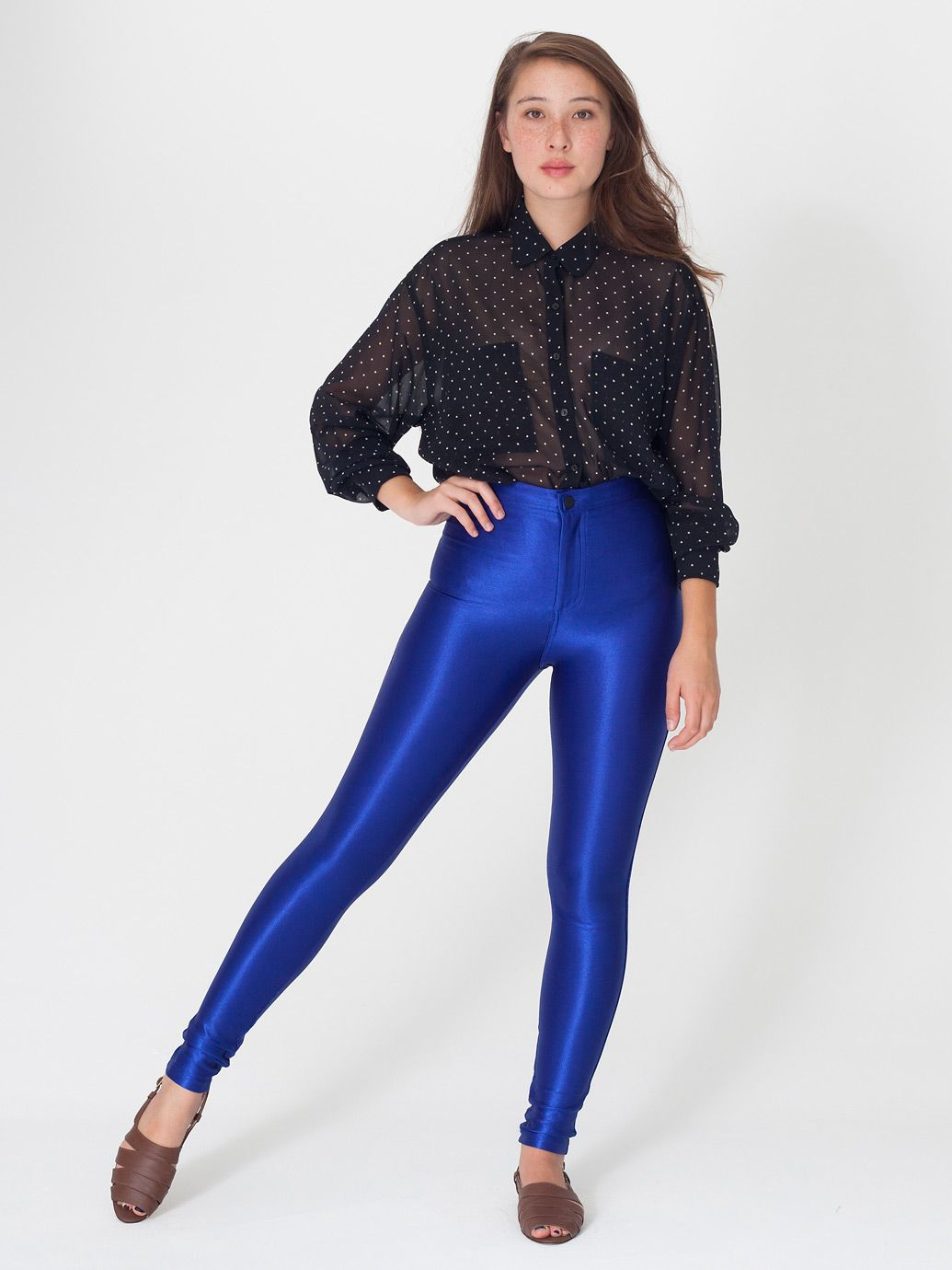 Fashion week How to blue wear disco pants for lady