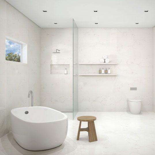 Alternative To TilesCaesarstone Bathroom Vanities Wall Lining - Easy to clean bathroom tile