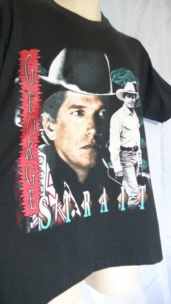 George Strait T Shirt size Large Concert Vintage   in 2019 ... d02ebc4d3d92