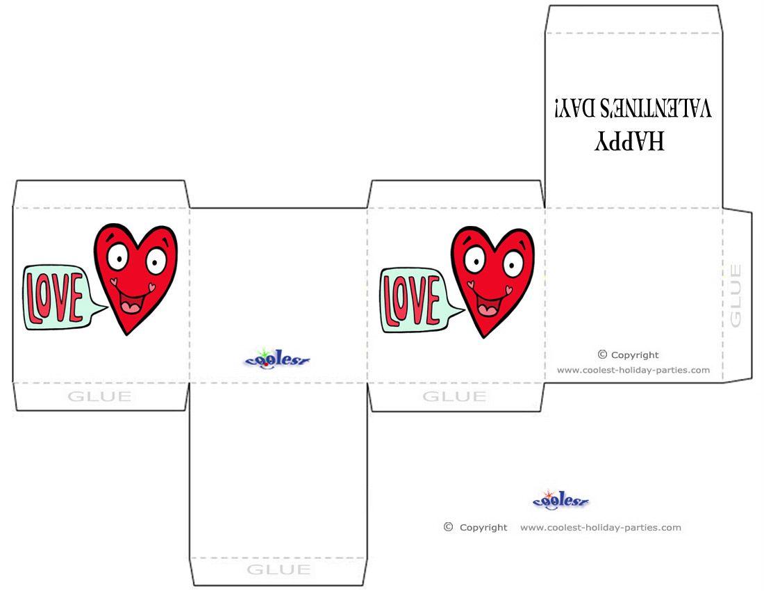 Printable Valentines Chocolate Box