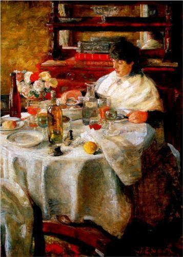 The Oyster Eater - James Ensor, 1882.