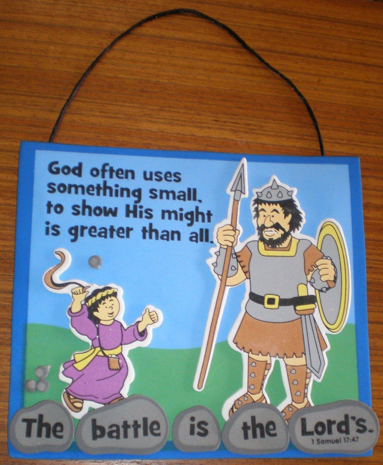 David and Goliath Craft | Toddler sunday school, David ...