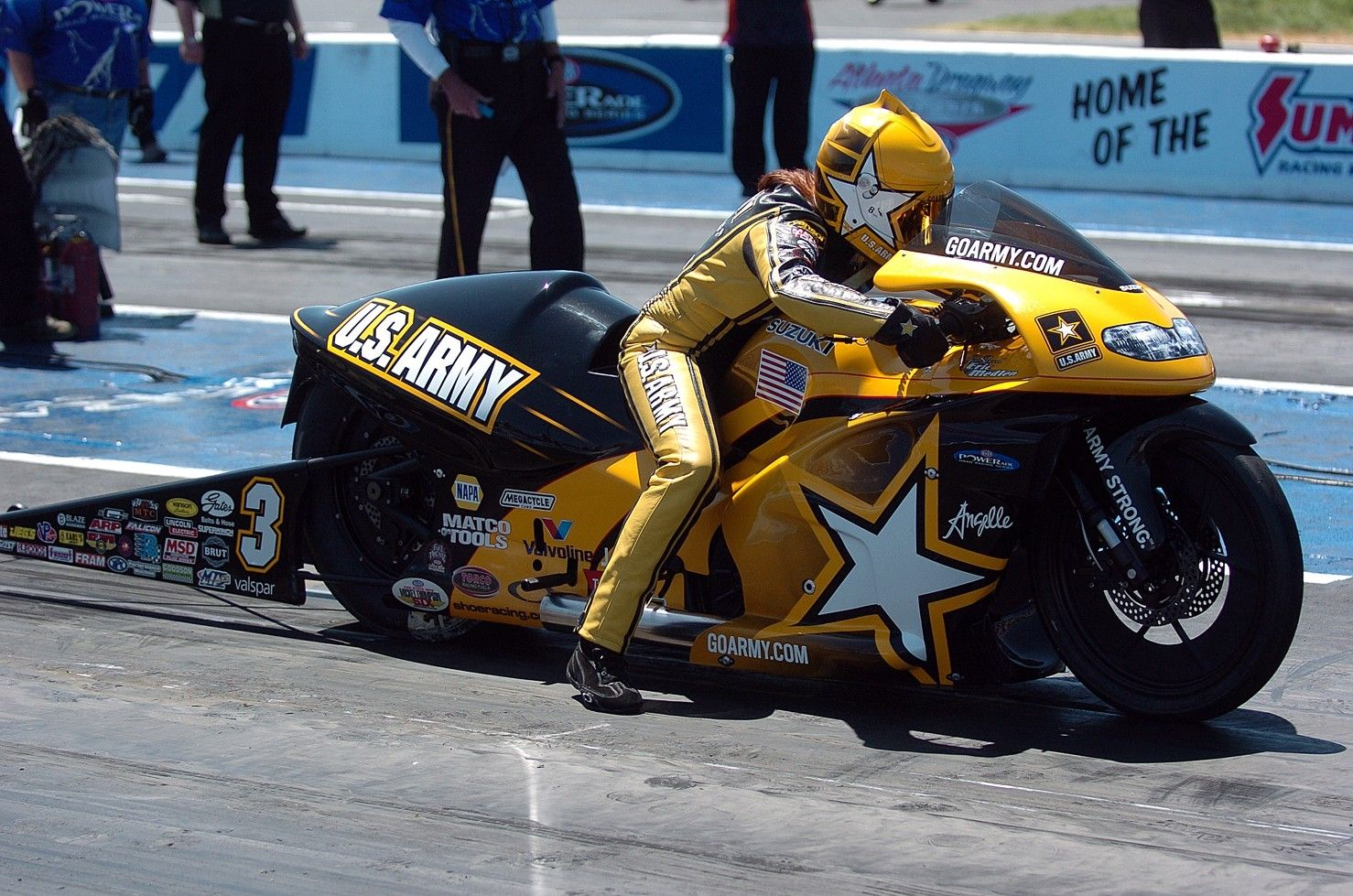 Watch Angelle Sampey NHRA champion video