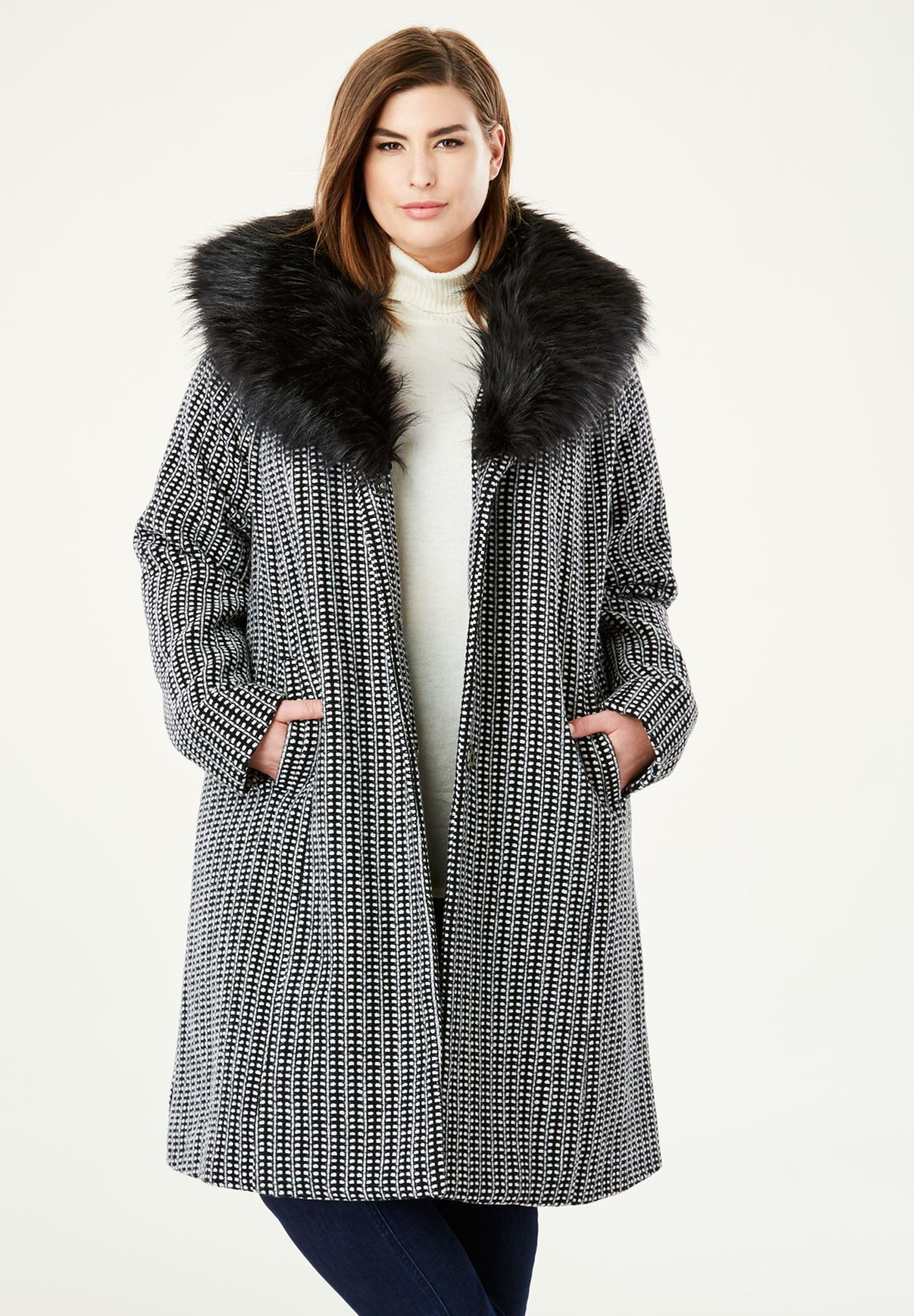 A Line Wool Blend Coat Plus Size Wool Coats Woman Within Coat Wool Blend Coat Plus Size Coats [ 1986 x 1380 Pixel ]
