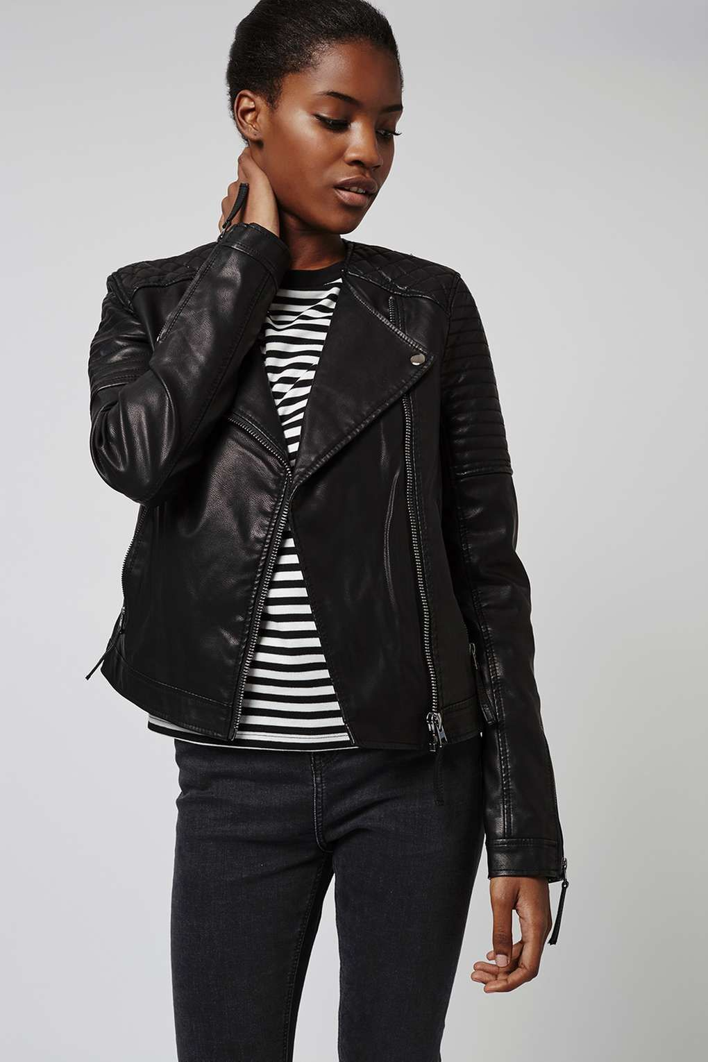 Tall Quilted Faux Leather Biker Faux Leather Biker Jacket Fake Leather Jacket Vegan Leather Moto Jacket