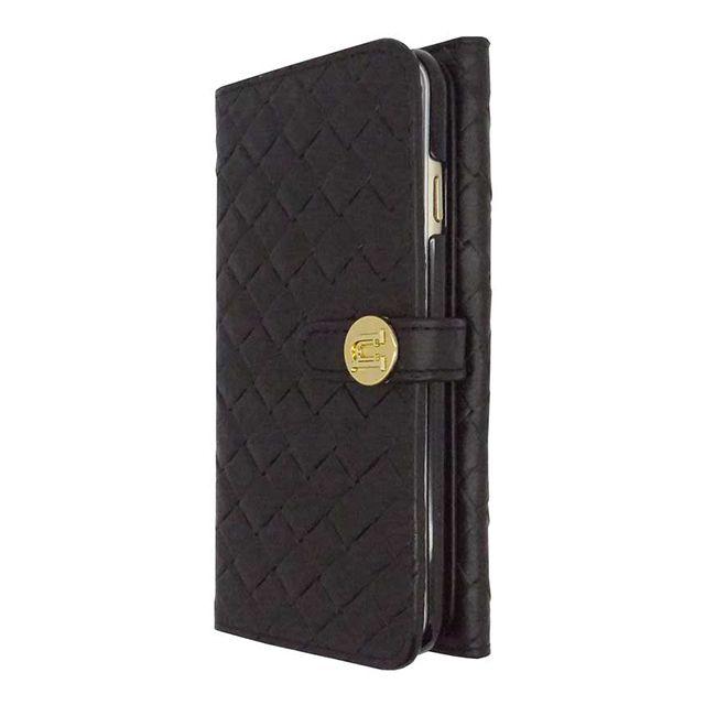 【【iPhone6 Plus ケース】Luxe Exotic Female Wallet Weave Black】内側にカードホルダーが付いたお財布型ラグジュアリーケース…
